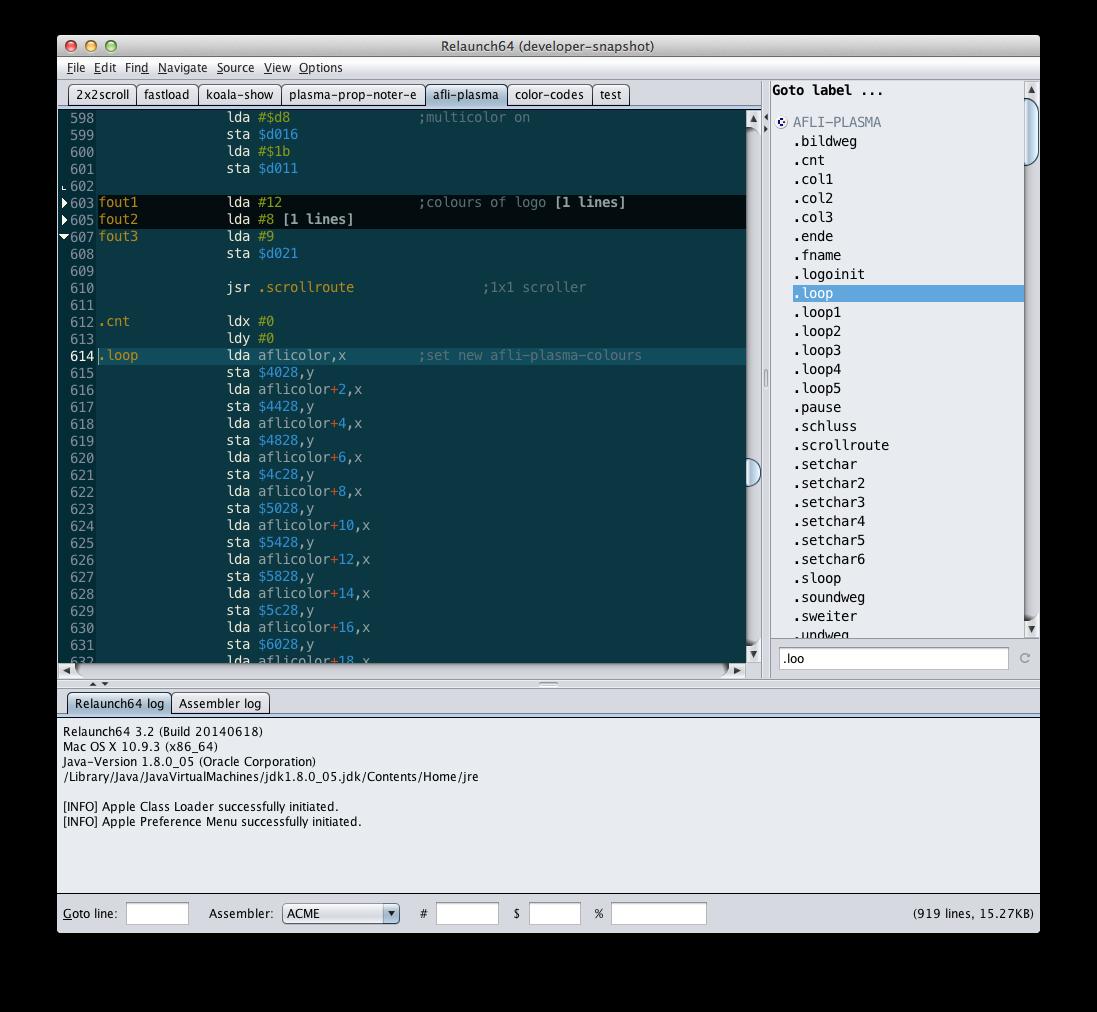 Relaunch64 - A C64/65xx cross-development IDE by Testicle & Fabu of